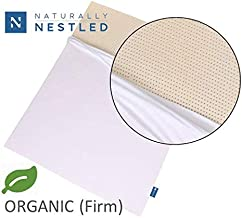 Certified Organic 100% Natural Latex Mattress Topper - Firm - 3 Inch - King Size - Organic Cotton Cover Included.
