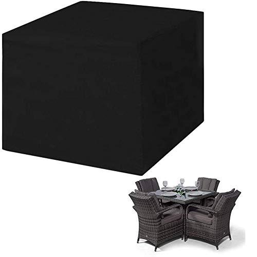 Cubierta de Muebles Impermeable al Aire Libre Cubiertas de Jardín para Sofá Mesa Silla Prueba de Polvo Sofá de Mimbre Conjunto de Protección Patio de Salón Mesa,123x123x74cm
