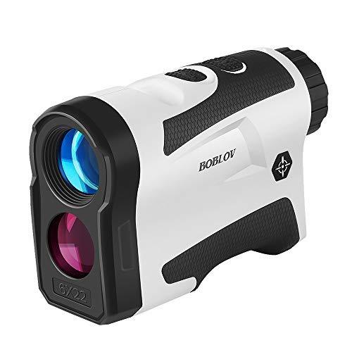 Boblov LF600AG Golf-Entfernungsmesser mit Pinsensor, 6-fache Vergrößerung, unterstützt Vibration und USB-Lade-Flaggenschloss, Entfernungsmesser, Geschwindigkeitsmessgerät, mit Steigung, weiß