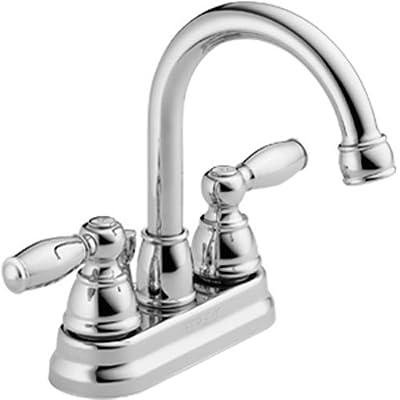 Peerless Claymore Centerset Bathroom Faucet Chrome, Bathroom Sink Faucet, Pop-Up Drain Assembly, Chrome P299685LF