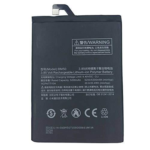 Ellenne Batería compatible con Xiaomi Mi Max 2 MIMAX2 BM50 alta capacidad 5200 mAh con kit de desmontaje incluido