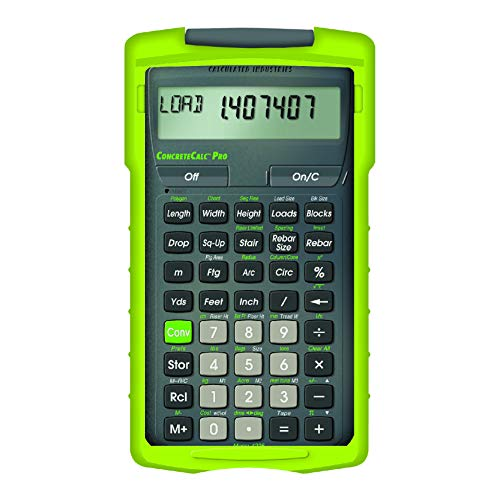Calculated Industries 4225 ConcreteCalc Pro Advanced Feet-Inch-Fraction, Metric Construction-Math Calculator Tool for Concrete, Masonry, Paving Contractors and Estimators