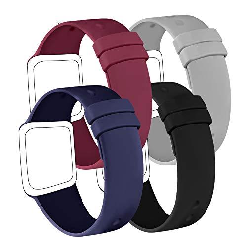 AK Confezione 4 Cinturino Compatibile per Apple Watch Cinturino 44 mm 38 mm 42 mm 40 mm, Cinturino in Silicone Morbido per Apple Watch Series 6 5 4 3 2 1 (42/44mm M/L, Blu navy/Nero/Vino rosso/Grigio)
