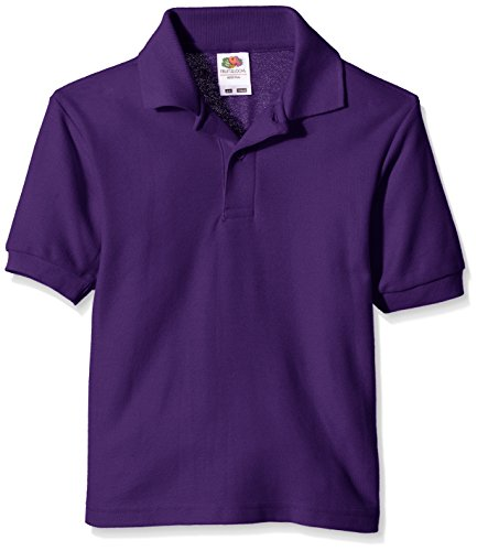 Fruit of the Loom Jungen T-Shirt Pique Polo, Violett (Violett), Gr. 3-4 Jahre