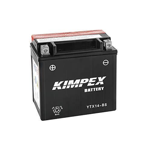 Kimpex Battery Yuasa YTX14-BS Subtitute High Performance Free Maintenance 12V