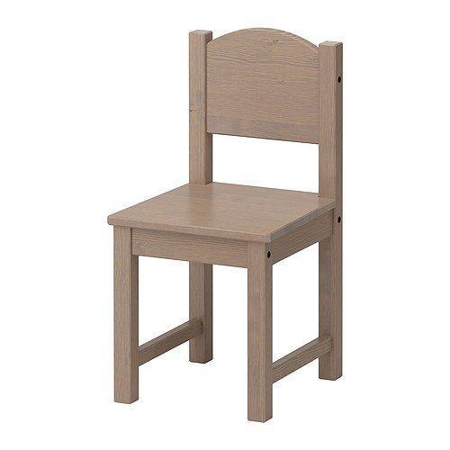 Ikea SUNDVIK - Silla infantil, color gris y marrón