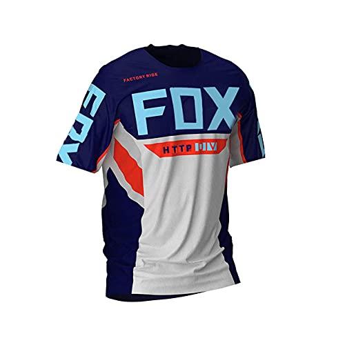 Downhill Jerseys Http Fox Mountain Bike MTB Shirts Offroad Dh Motorcycle Jersey Motocross Sportwear Clothing Httpfox Bike-5Xl