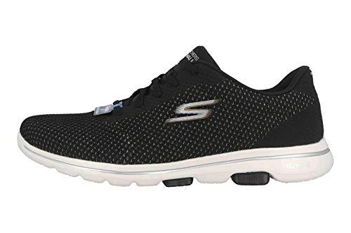 Skechers Sneaker Damen GO Walk 5-Debut 124021 BKGD Black/Gold, Schuhgröße:41