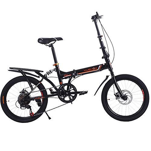 Vouwfiets 20 inch – opvouwsnelheid voor fietsen, dames en heren, studenten, volwassenen, fiets, dubbele schijfremmen, demping