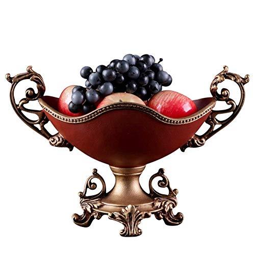 1yess Haushalt Obst Charakter Teller, kreative Dekorative Ornamente Wohnzimmer Tisch, Snacks Obst Ablage (37 mal, 20-mal; 25cm) (Farbe: Lila) (Color : Black Red)