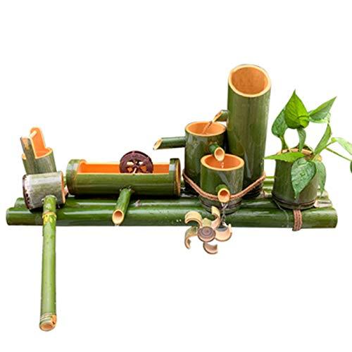 QXTT Fuente De Bambu Exterior Estatuas Decorativas Fuente Jardin para La Decoración del Jardín Cascada Característica Japonesa Al Aire Libre,45cm