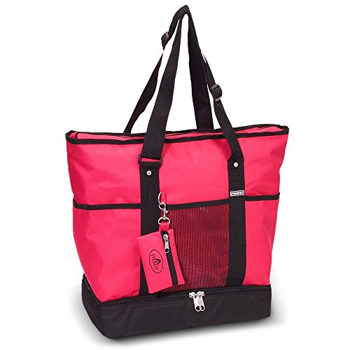 Everest Deluxe Shopping Tote Color: Hot Pink/Black