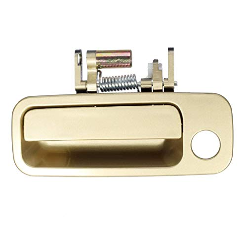 Eynpire 8010 Exterior Outside Outer Front Left Driver Side Beige/Gold Door Handle For 1997 1998 1999 2000 2001 Toyota Camry