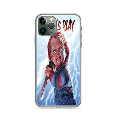 Pure Clear Cajas del Teléfono TPU Protección contra caída para iPhone 12/12 Pro MAX 12 Mini 11 Pro MAX SE X XS MAX XR 8 7 6 6s Plus Funda Cubierta para Childs Play