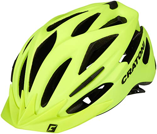 """Cratoni Mountainbike-Helm """"Pacer"""", Neongelb, matt, Größe L/XL 58-62, Fahrradmaterial, Unisex, für Erwachsene"""