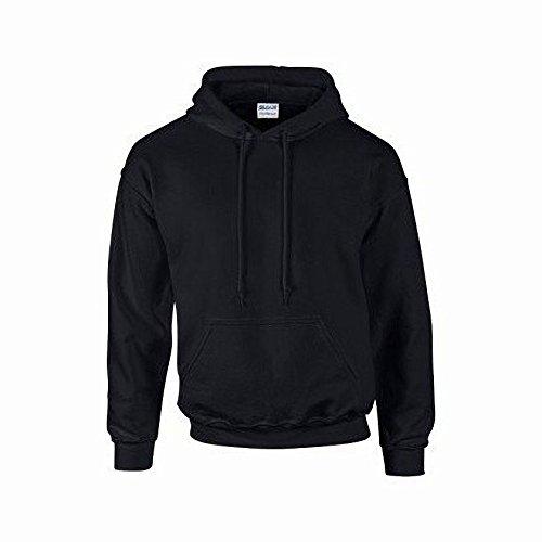 Gildan Heavyweight DryBlend Unisex Kapuzenpullover / Hoodie / Kapuzensweater L,Schwarz