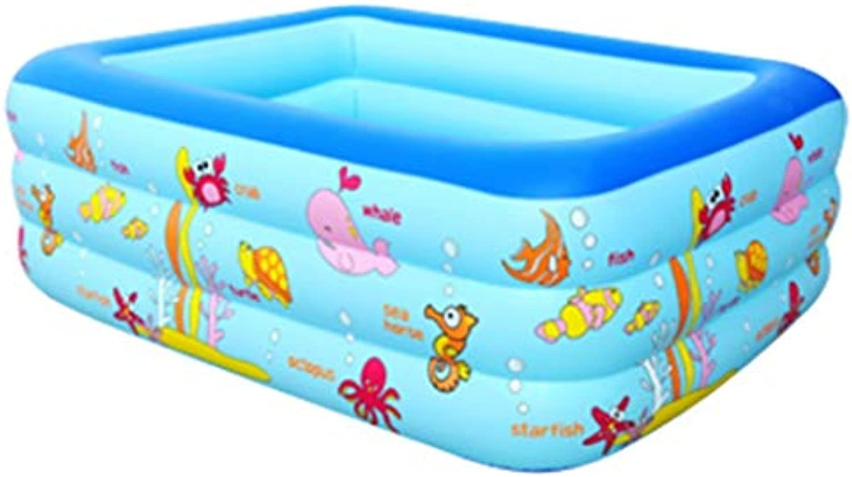 Aufblasbare badewanne für Kinder gro Aufblasbare Badewanne, Faltwanne Rechteckige Badewanne - Blau (gre   150cm105cm50cm)
