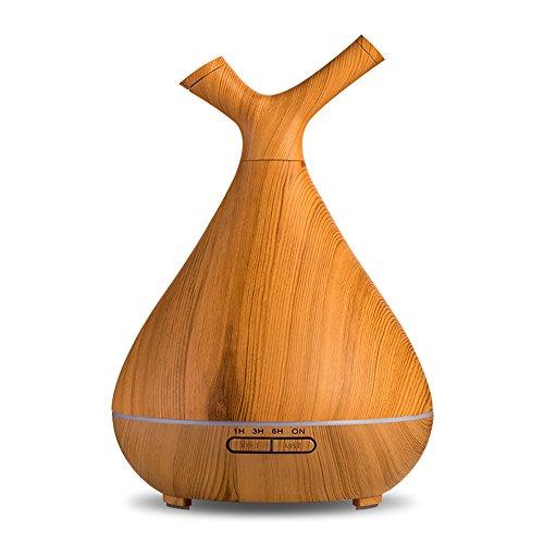 Splenssy Humidificador de aire para casa, oficina, aromaterapia, mini difusor de aceite esencial, color amarillo claro, enchufe europeo