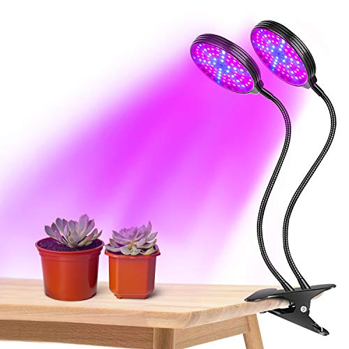 Full Spectrum Plant Grow Light, Dual Heads LED Growing Lights for Indoor...