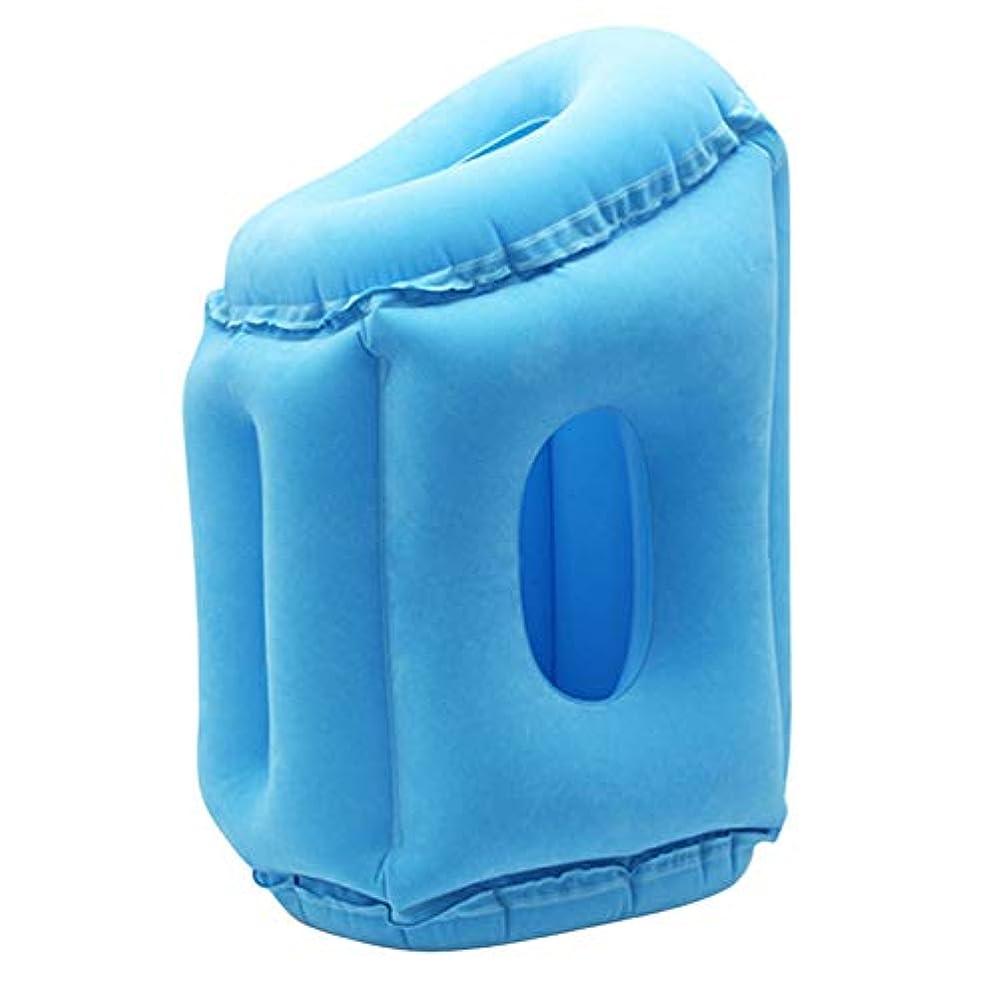 ハッピー矩形投票NOTE エアインフレータブルトラベルピローポータブルpvc植毛ソフトヘッドネックレストサポートクッション用ネックボディ睡眠顎ヘッドサポート