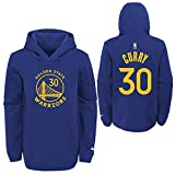 Nike Stephen Curry Golden State Warriors NBA Boys Youth 8-20 Blue Name & Number Pullover Hoodie Sweatshirt (Youth Medium 10-12)