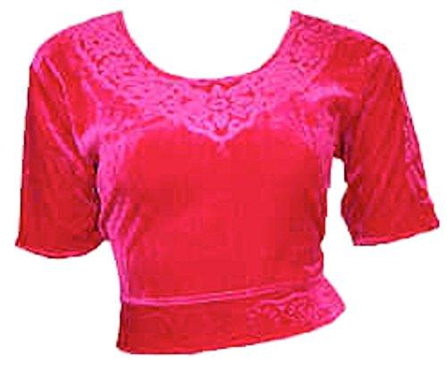Trendofindia Bordeaux Choli haut en velours ideal avec un sari Size XL