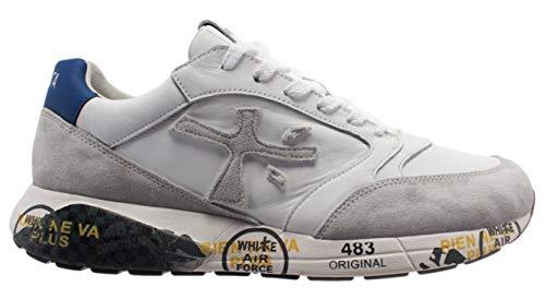 PREMIATA Sneakers Uomo Zaczac Bianco Rosso e Blu - ZACZAC 4555 - Taglia 41