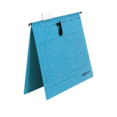 Original Falken 25er Pack Hängehefter UniReg. Made in Germany. Kaufmännische Heftung, aus Recycling-Karton für DIN A4 blau Blauer Engel ideal für die lose Blatt-Ablage im Büro und der Behörde