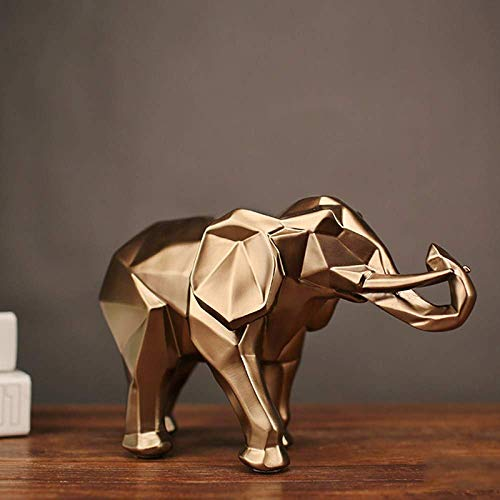 CHHD Escultura de Pared de Animal Moda Abstracción Estatua de Elefante Dorado Adornos de película Joyas IKEA Regalo de Vestuario Geometría Estatua de león Artesanía Estatuas de Pared de