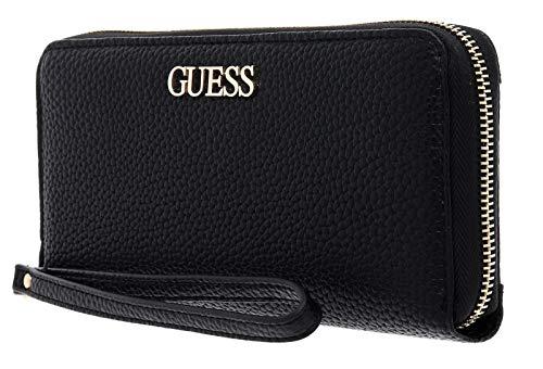 Guess Alby SLG Large Zip Around, Accessori da Viaggio-Portafogli Donna, Black, One Size