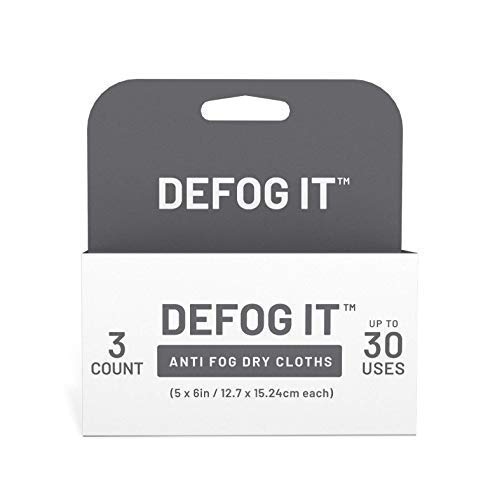 Price comparison product image Defog It Tear-and-Go Reusable Dry Cloth Anti-Fog Wipes,  3-Pack (30 Uses)