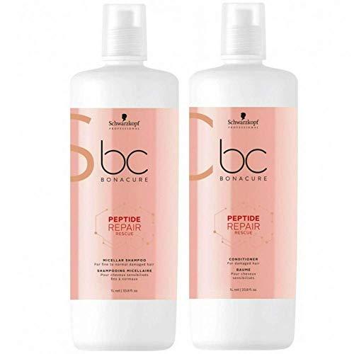 Price comparison product image BC Bonacure REPAIR RESCUE Deep Nourishing Shampoo and Conditioner Set,  White ,  33.81-Ounce
