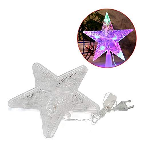 Deendeng - Stringa di luci a forma di stella, allungabili per interni, esterni, feste di nozze, albero di Natale, Capodanno, decorazione del giardino, decorazione natalizia