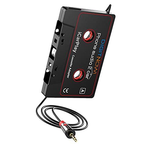 DIGITNOW! Adattatore Cassette per Auto, Riprodurre Musica per Smartphone Tramite il Auto Vassoio Cassette