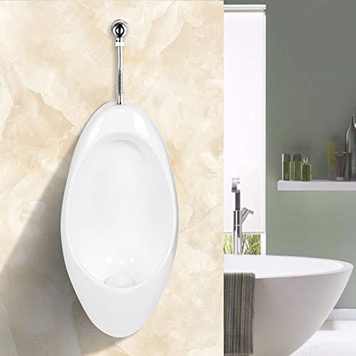 AYNEFY Wand Urinal Zulauf Oben Hochwertig Keramik Pinkelbecken Modern Spülrand Pissoir mit Siphon Badezimmerzubehör für Toilette Badezimmer Bad WC, weiß, 69 x 30 x 33 cm