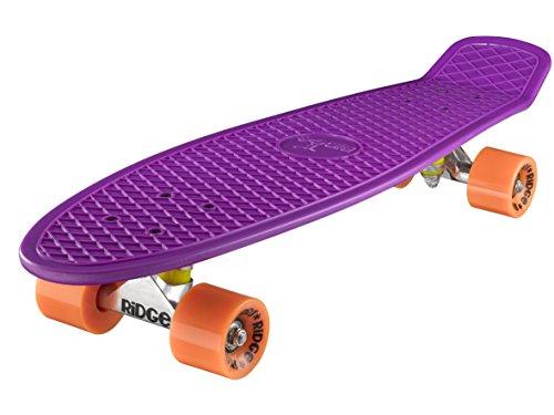 Ridge Skateboard Big Brother Nickel 69 cm Mini Cruiser, lila/orange