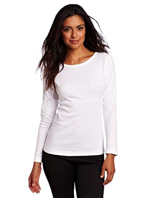 Duofold Women's Mid Weight Wicking Thermal Shirt, White, X Large