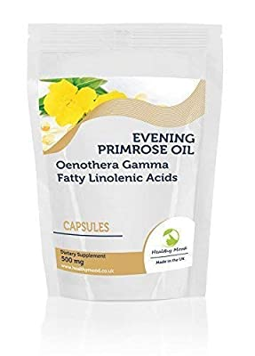 Evening Primrose Oil 500mg Oenothera Gamma Linolenic Acid Dietary Supplement 30 Capsules For breast pain, PMS, Osteoporosis, Eczema, psoriasis, acne Nutrition Supplements HEALTHY MOOD UK Quality Nutrients by Healthy Mood