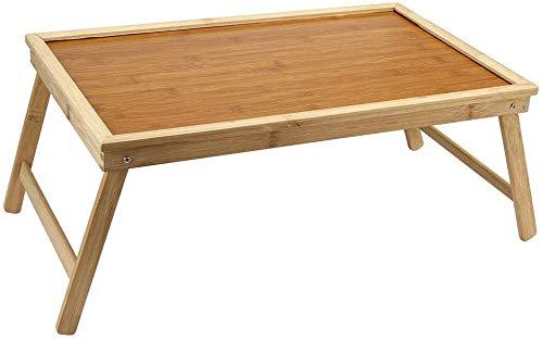 Jueven Laptop Stand Bett Ablagetisch mit klappbaren Beinen,Brown