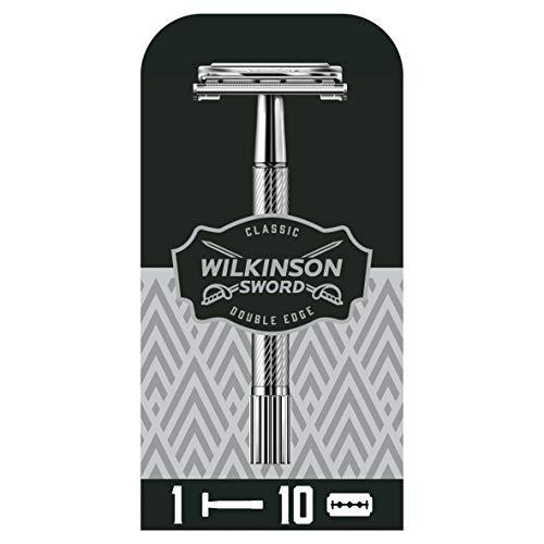 Wilkinson Sicherheitsrasierer mit 10 Ersatzklingen