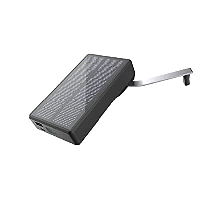 Solar Charger MAXOAK 7800mAh Solar Power Bank Portable Hand Crank USB External Battery Pack for Smartphone iPhone Samsung Android phones GoPro Camera GPS Tablet and More