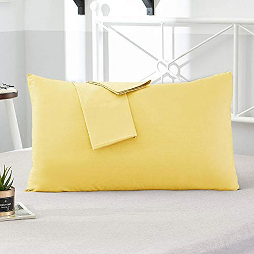 HNLHLY kussensloop van katoen voor hotel bekleding van puur katoen kleur overtrek voor kussens in verschillende maten verkrijgbaar 2 stuks