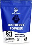 Jungle Powders Wild Blueberry Powder 3.5 oz, Nordic Freeze Dried Blueberries No Sugar Added, Additive and Filler Free Bilberry Fruit Superfood Powder