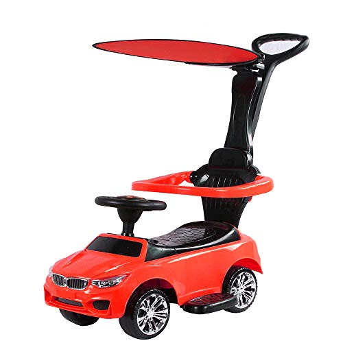 Toyhouse Benzy Push car with Long & Strong Push Handle for Kids(1 to 3yrs), Red