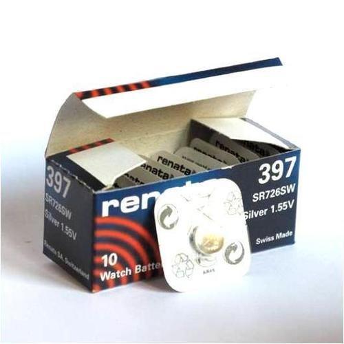 10 x 397 Renata Svizzera batteria al litio a bottone SR726SW
