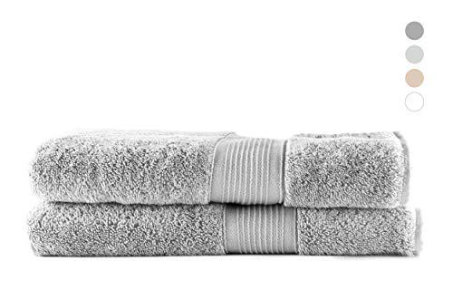 QUAGGY Home. Toalla de baño. Premium. 100% algodón. Tacto Ultrasuave. Secado rápido (Grande 70x140cm, Gris Stone)