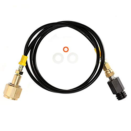 CGA320 Hose Adapter for Soda Stream Machine to CO2 Tank Quick Connect, 60 inch 5 Feet 630 Bar 9000psi