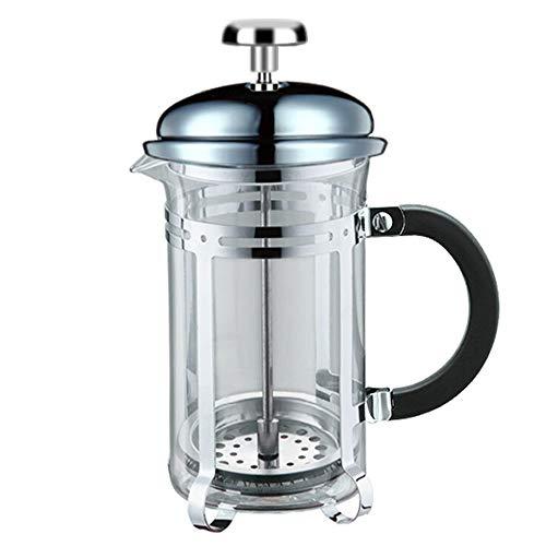 French Press Kaffee- und Teekocher Französisch Press Pot Glas-Edelstahl-Kaffeekanne Haushalts Tee-Maschine Kaffee-Filter Kaffee Appliance (Farbe : Clear, Größe : 300ml)