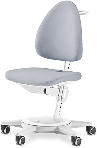 Moll Maximo Chaise pour Enfant avec Cadre Blanc et Rembourrage gris