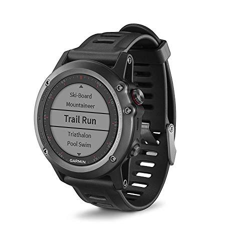 Garmin fenix 3 GPS-Multisportuhr, Smartwatch-, Navigations- und Sportfunktionen, GPS/GLONASS, 1,2 Zoll (3 cm) Farbdisplay, 010-01338-01 (Generalüberholt)